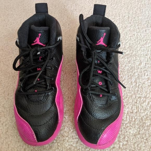 buy popular 7cdef cae21 Girls Black/Pink Jordans Basketball Shoes